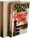 Books:First Editions, Stephen King: ABA Presentation Copy of Gerald's Game. (NewYork: Viking, 1992), presentation copy preceding the first t...