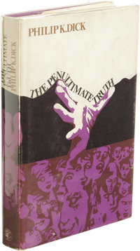 Philip K. Dick: The Penultimate Truth. (London: Jonathan Cape, 1967), first hardcover edition, 254 pages, jacket design...