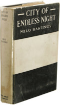 Books:First Editions, Milo Hastings: City of Endless Night. (New York: Dodd, Meadand Co., 1920), first edition, 346 pages, black cloth with w...