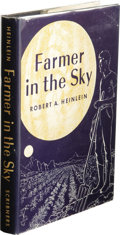 "Books:First Editions, Robert A. Heinlein: Farmer in the Sky. (New York: CharlesScribner's Sons, 1950), first edition (with ""A"" and Scribner s..."