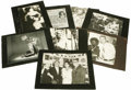 "Movie/TV Memorabilia:Photos, Bette Davis Photo Display Cards used on ""The Tonight Show"" from Johnny Carson's Secretary. Set of eight b&w 11.5"" x 8.5"" pho..."