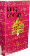 Books:First Editions, Robert E. Howard: King Conan. (New York: Gnome Press, 1953),first edition, 255 pages, red cloth with black lettering on...
