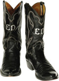 Music Memorabilia:Costumes, Eddie Dean Boots, Designed by Eli Rios & Sons. Eddie Dean(1907-1999) was the Singing Cowboy of Poverty Row's PRC Studios.H... (Total: 1 Item)