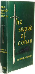 Books:First Editions, Robert E. Howard: The Sword of Conan. (New York: GnomePress, 1952), first edition, 251 pages, crimson boards withblack...