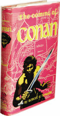 Books:First Editions, Robert E. Howard: The Coming of Conan. (New York: GnomePress, 1953), first edition, 224 pages, red cloth with black let...