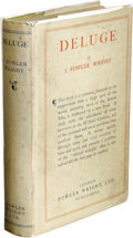 Books:First Editions, S. Fowler Wright: Deluge. (London: Fowler Wright, Ltd.,1927), first edition (self published), 320 pages, green cloth wi...