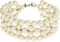 "Movie/TV Memorabilia:Props, Sandra Dee's Faux Pearl Bracelet. A faux-pearl bracelet, 1"" wide, owned and worn by by the Gidget star and wife of Bobby..."
