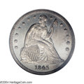 Seated Dollars: , 1845 $1 MS62 NGC. The 1845 Seated dollar is a ...