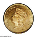 Gold Dollars: , 1860 G$1 MS67 PCGS. The 1860 Gold Dollar is the rarest ...