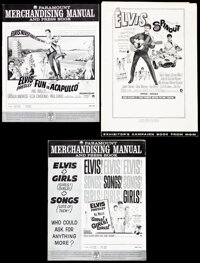 """Fun in Acapulco & Other Lot (Paramount, 1963). Folded, Very Fine. Uncut Pressbooks (10 Pages, 12.25"""" X 17""""..."""