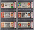 Baseball Cards:Lots, 1912 T202 Hassan Triple Folders PSA EX-MT 6 Collection (6)...