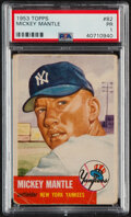 Baseball Cards:Singles (1950-1959), 1953 Topps Mickey Mantle #82 PSA Poor 1. Offered i...