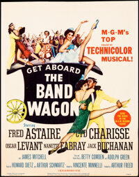 """The Band Wagon (MGM, 1953). Folded, Very Fine-. Trimmed Window Card (14"""" X 17.5""""). Musical"""