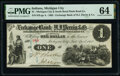 Michigan City, IN - Michigan City and South Bend Plank Road Co. at the Exchange Bank of H.J. Perrin & Co. $1 Apr., 1...