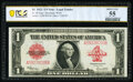 Fr. 40 $1 1923 Legal Tender PCGS Banknote About Unc 55