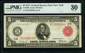 Fr. 833b $5 1914 Red Seal Federal Reserve Note PMG Very Fine 30