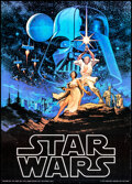 """Movie Posters:Science Fiction, Star Wars (Factors, 1977). Folded, Very Fine. Commercial Poster (20"""" X 28"""") Greg and Tim Hildebrandt Artwork. Science Fictio..."""