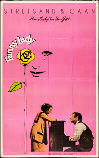 """Funny Lady & Other Lot (Columbia, 1975). Folded, Fine/Very Fine. Poster (41"""" X 65""""), Lobby Cards (6) (11&q..."""
