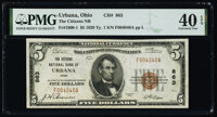 Urbana, OH - $5 1929 Ty. 1 The Citizens National Bank Ch. # 863 PMG Extremely Fine 40 EPQ