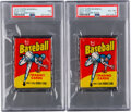 Baseball Cards:Unopened Packs/Display Boxes, 1975 Topps Mini PSA-Graded Wax Pack Collection (2).
