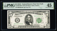 Fr. 1959-B* $5 1934C Wide Federal Reserve Star Note. PMG Choice Extremely Fine 45