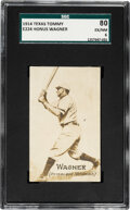 Baseball Cards:Singles (Pre-1930), 1914 E224 Texas Tommy Type 2 Honus Wagner SGC 80 EX/MT 6 - Single Finest Example for the Entire Issue!...