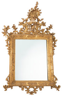 A Chippendale-Style Giltwood Mirror 78 x 46-1/2 inches (198.1 x 118.1 cm)