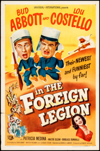 """Abbott and Costello in the Foreign Legion (Universal International, 1950). Folded, Very Fine-. One Sheet (27"""" X 41&..."""