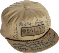 """1982 Hall of Famers & Greats Multi-Signed """"Bally's"""" Cap from The Al Kaline Collection"""