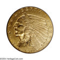 Indian Quarter Eagles: , 1911-D $2 1/2 MS63 PCGS. A richly defined apricot-gold ...