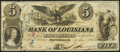 New Orleans, LA- Bank of Louisiana $5 June 14, 1862 Forced Issue Very Fine