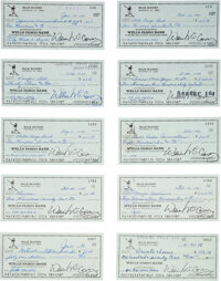 1995 Willie McCovey Signed Checks Lot of 640+ from The Willie McCovey Collection
