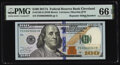 Small Size:Federal Reserve Notes, Repeater Serial Number 00630063 Fr. 2189-D $100 2017A Federal Reserve Note. PMG Gem Uncirculated 66 EPQ.. ...