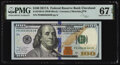 Small Size:Federal Reserve Notes, Fancy Serial Number 00636363 Fr. 2189-D $100 2017A Federal Reserve Note. PMG Superb Gem Unc 67 EPQ.. ...