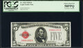 Fr. 1525 $5 1928 Legal Tender Note. PCGS Choice About New 58PPQ; Fr. 1533 $5 1953A Legal Tender Note. PCGS Choice About...