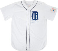 1980's Charlie Gehringer Signed & Inscribed Detroit Tigers Jersey Display from The Al Kaline Collection
