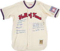 """Circa 2001 Hall of Famers Signed """"Hall of Fame"""" Jersey from The Al Kaline Collection"""