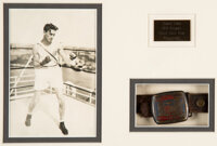 1928 Amsterdam Olympic Games Belt Buckle Presented to Tommy Lown