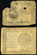 Continental Currency May 9, 1776 $7 Fair; Continental Currency September 26, 1778 $60 Very Fine. ... (Total: 2 items)