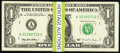 A Sizeable Offering of Sixty-Five $1 Web Federal Reserve Notes from the 1988A, 1993, and 1995 Series. Very Good or Bette...
