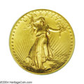 High Relief Double Eagles: , 1907 $20 High Relief, Wire Rim MS62 PCGS. The surfaces ...