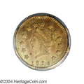 California Fractional Gold: , 1876 $1 Liberty Octagonal 1 Dollar, BG-1117A, R.8, AU55 ...