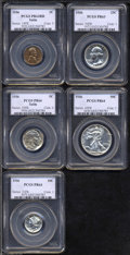 Early Proof Sets: , A 1936 Proof Set PR63 to PR66 PCGS that includes: