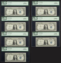 Fr. 1619 $1 1957 Silver Certificates. Seven Consecutive Examples. PCGS Choice New 63PPQ. ... (Total: 7)