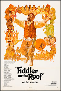 """Fiddler on the Roof & Other Lot (United Artists, 1971/). Very Fine on Linen. One Sheets (2) (27"""" X 41"""") Te..."""