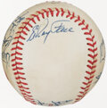Autographs:Baseballs, 1980s National Old Timers Classic Multi-Signed Baseball from The Willie McCovey Collection. ...