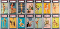 """Non-Sport Cards:Sets, 1940's Mutoscope """"Glamour Girls"""" PSA-Graded Complete Set (..."""
