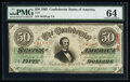 T57 $50 1863 PF-1 Cr. 406 PMG Choice Uncirculated 64