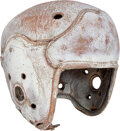 Football Collectibles:Helmets, 1940's Green Bay Packers Game Worn Helmet from The Glen Ch...