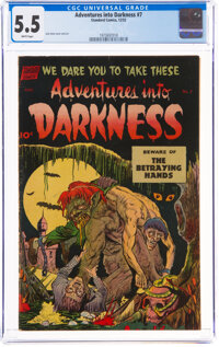 Adventures Into Darkness #7 (Standard, 1952) CGC FN- 5.5 White pages